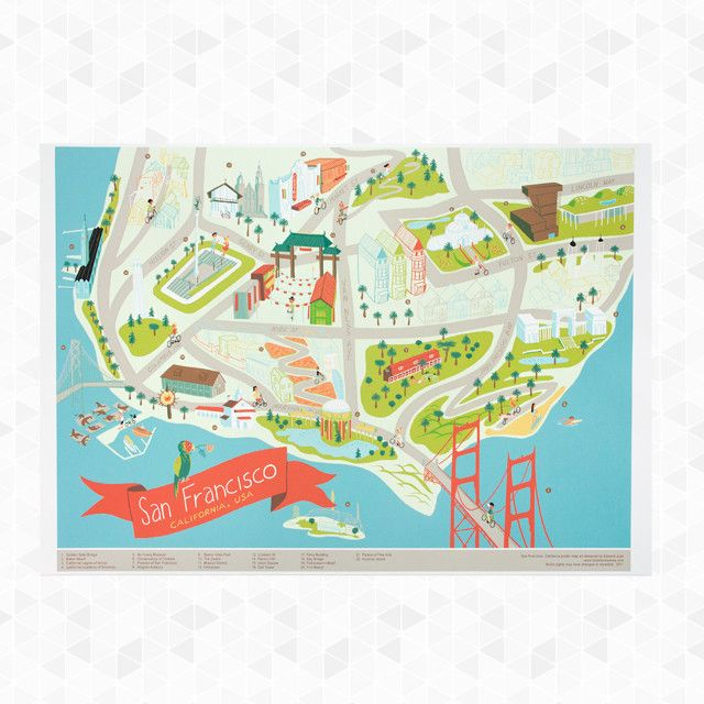 Atlas San Francisco Landmarks Map – Tourist Attractions In San Francisco Map