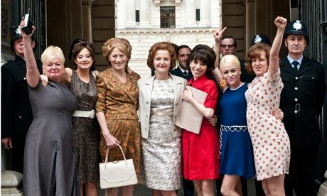 Made in Dagenham (Nigel Cole, 2010) --- Sally Hawkins, Miranda Richardson, Rosamund Pike, Bob Hoskins.