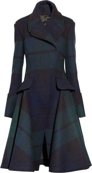 Alexander McQueen Plaid Coat.