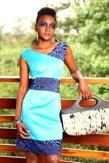 Blue dress with leopard print belt. #ItsOVA