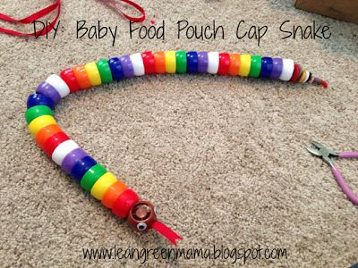 Lean Green Mama: DIY: Baby Food Pouch Cap Crafts