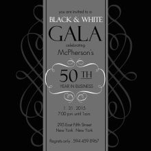21 best invitations images on pinterest event invitations black and white gala company event invite stopboris Images