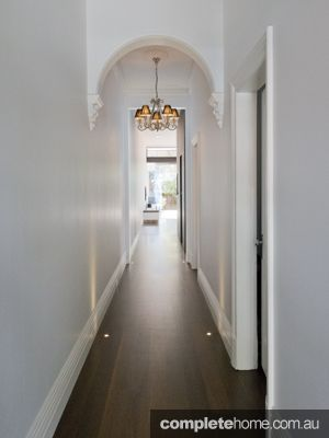 federation style hallway with a new lick of paint