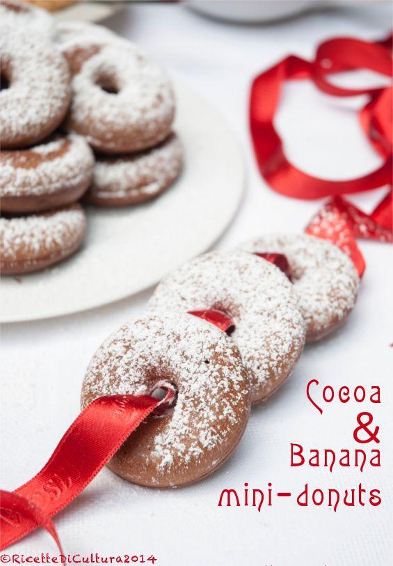 Ricette di Cultura: Ciambellini con cacao e banana - cocoa and banana donuts
