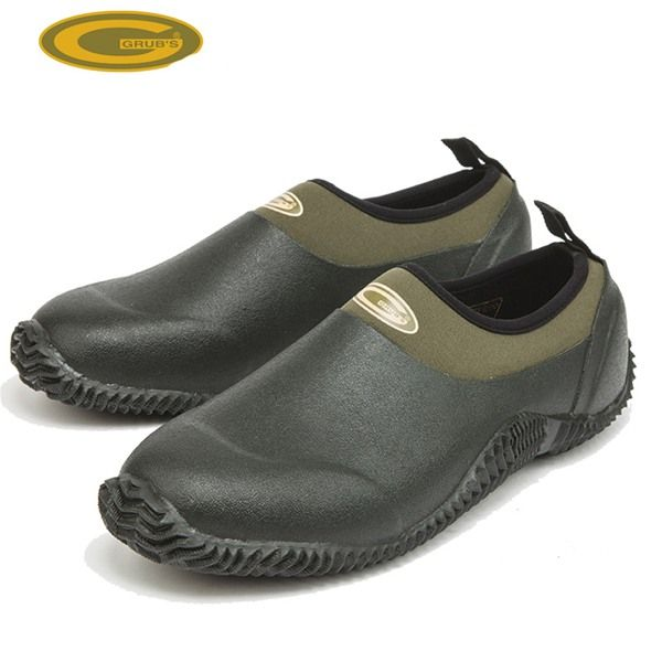 Grubs Woodline 5.0 Gardening Shoes in Moss Green are ideal for the avid gardener.