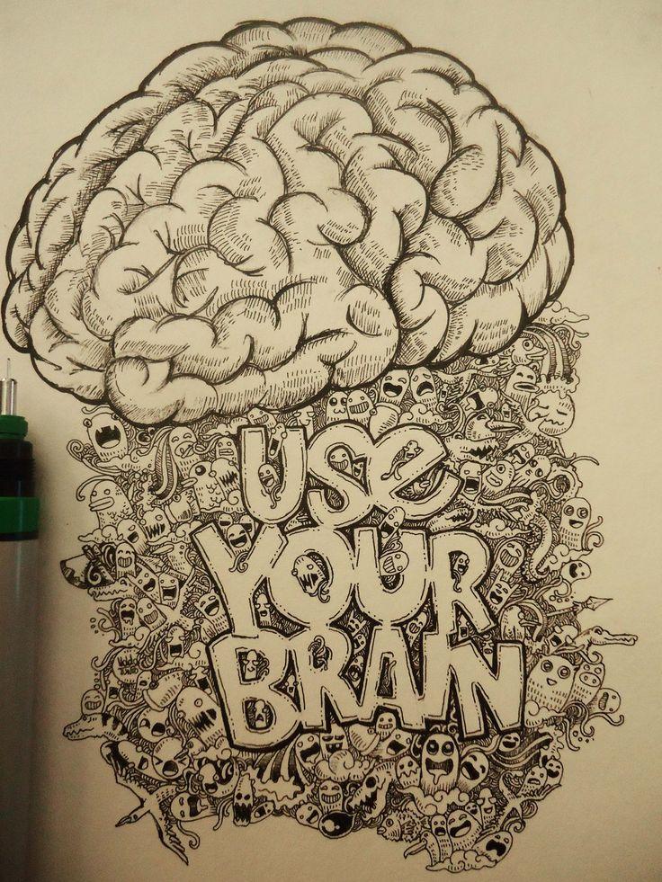 Cool brain drawing