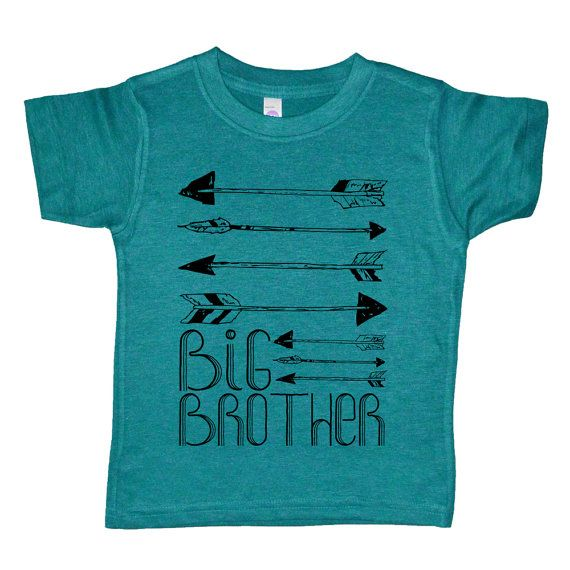 Big Brother - Arrows - Boys Native America / Arrows / Archery Shirt - American Apparel Evergreen Tri Blend Boys Big Brother Tee Shirt