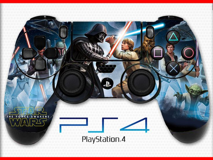 Battlefront Skin PS4 Controller Skin Wrap Sticker Playstation 4 Skin Star Wars Skin Darth Vader Skin Luke Skywalker Skin
