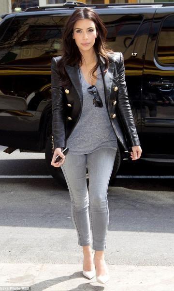 """Look do Dia """"Kim Kardashian – Skinny Jeans """""""