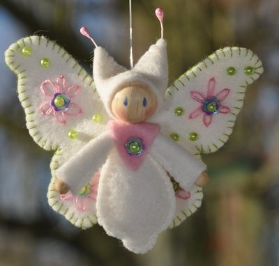 Lente Vlinder #vilt #DIY #decoratie