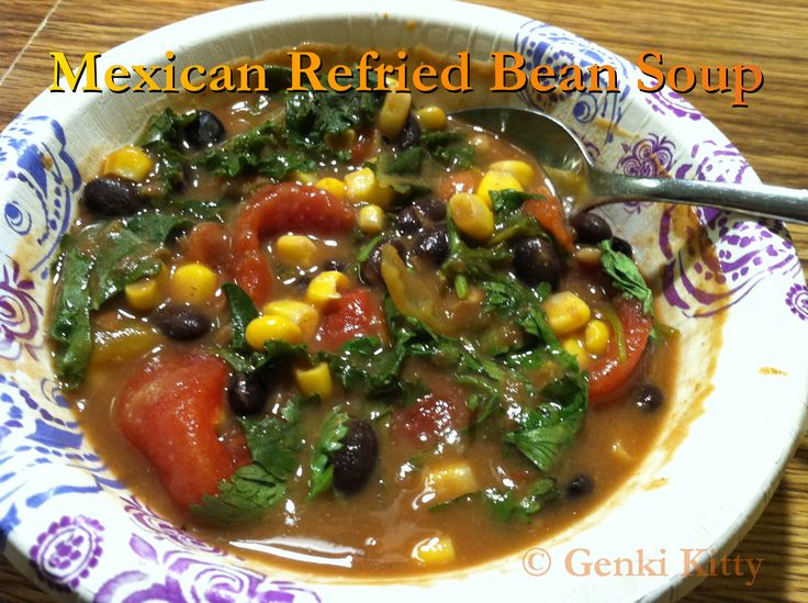 Mexican Refried Bean Soup Vegan