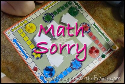 Math Sorry~Multi Aged and Abled Math Game