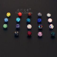 Мягкие керамические бусины алмазные шарики, разбросанные бусины браслет плетение Китайский узел кулон ручной работы DIY ювелирных материалов аксессуары 8мм