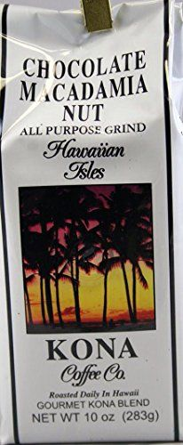 Hawaiian Isles Kona Coffee Chocolate Macadamia Nut 10 Oz. Bag Pack of 4 >>> Find out more at the image link. #GroundCoffee