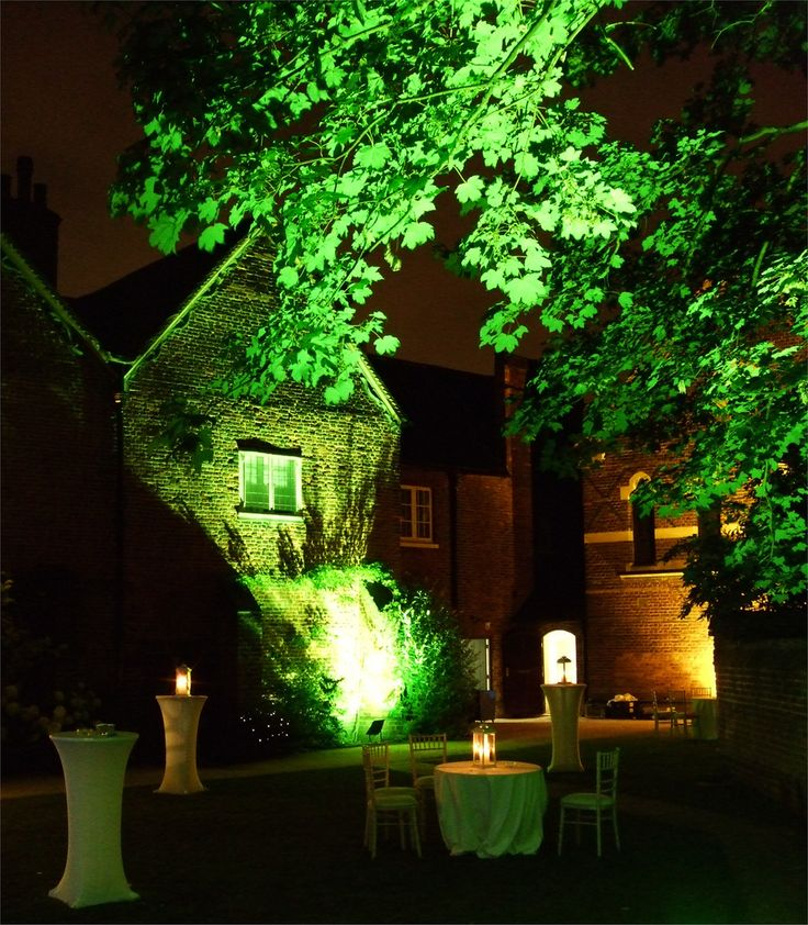 Tree And Wall Uplighters Poseur Tables With White Lycra Cloths By Www Stressfreehire