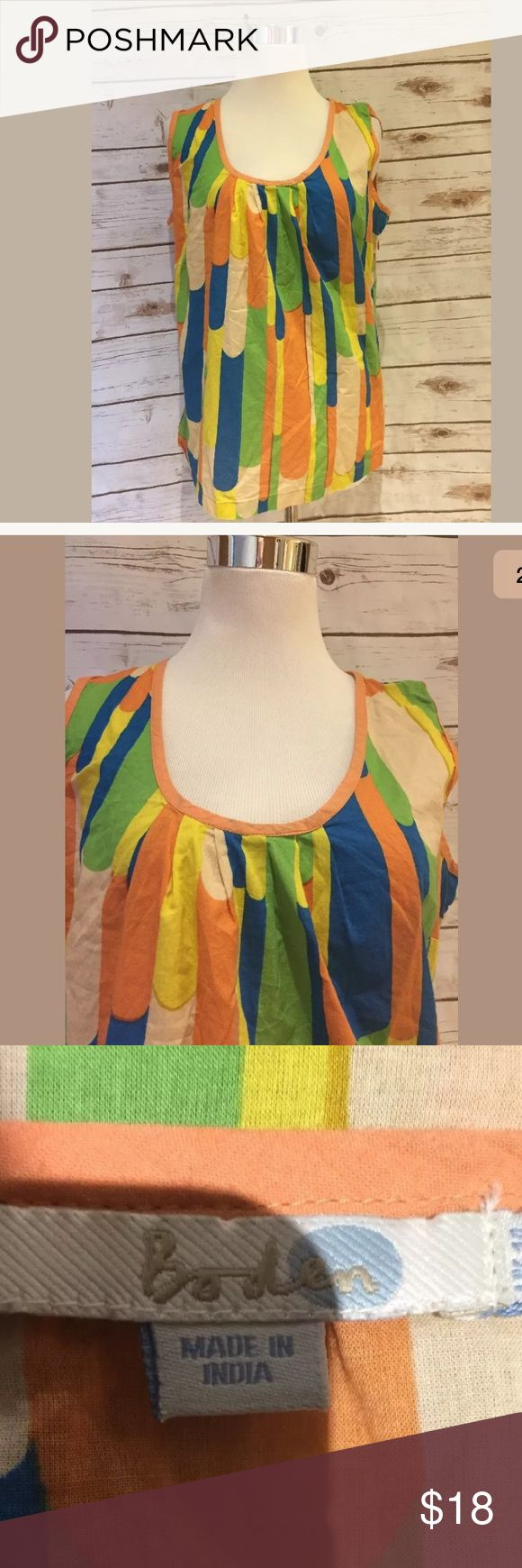 Boden blouse size 10 Thank you for shopping with me and supporting a US based small business Measures 19 inches underarm to underarm and 22 inches long  * Items are shipped in an appropriately sized mailing envelope. Boden Tops Blouses