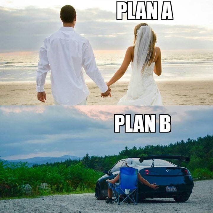 It's always been plan b never will it be plan a
