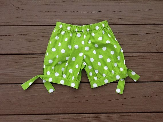 Hey, I found this really awesome Etsy listing at https://www.etsy.com/listing/182891703/girls-bubble-shorts-lime-white-polka-dot