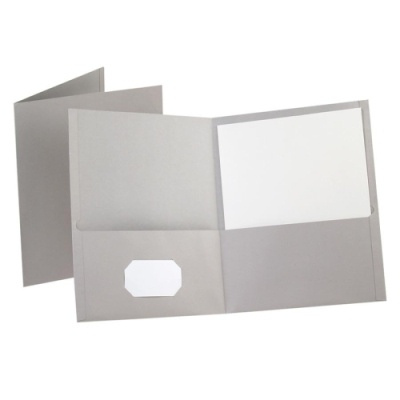 ESS57505 - Gray Two Pocket Folder Wholesale Office Supplies