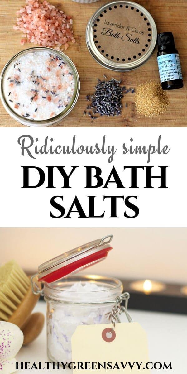 DIY Bath Salts ~ Absurdly Easy Homemade Gift