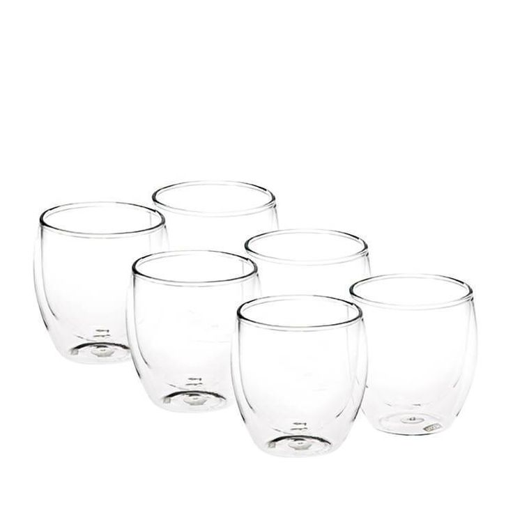 These are the Bodum PAVINA double wall glasses.  Designed for both hot and cold drinks - they're great for everything from hot cocoa to your favourite cocktail.  The double wall keeps hot drinks hot and protects your hands, and it keeps cold drinks cold without messy condensation.