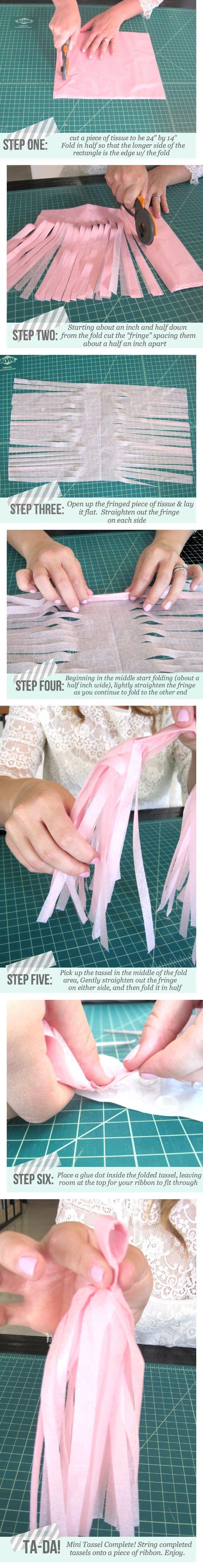 DIY Mini Tassel Garland by DIY Bloggista Natalie, of Mint Love Social Club!   The Knotty Bride™ Wedding Blog + Wedding Vendor Guide