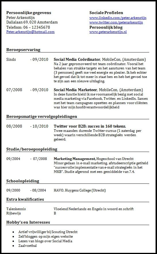 sollicitatiebrief voorbeelden  a collection of education