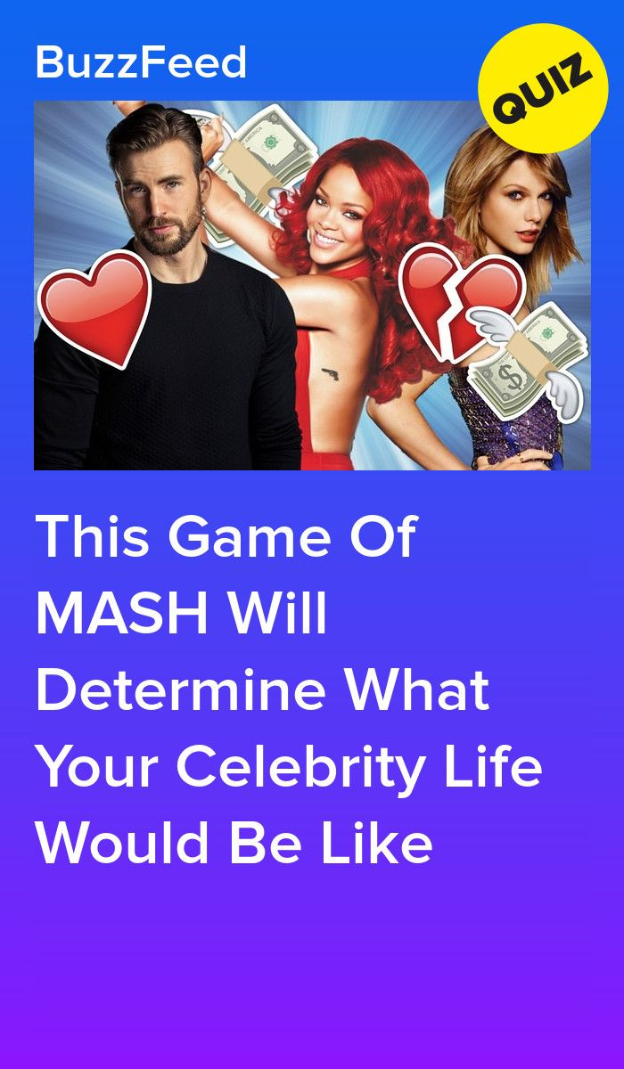 This Game Of Mash Will Determine What Your Celebrity Life Would Be
