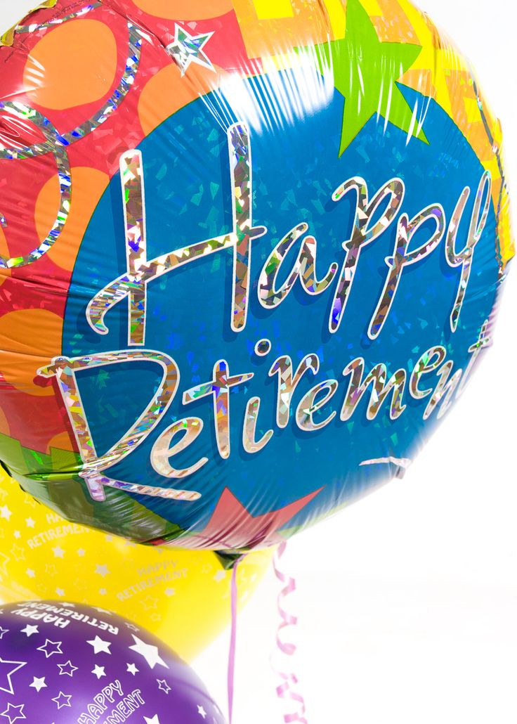Fun multi coloured balloon that reads quot happy retirement quot happy retirement balloons