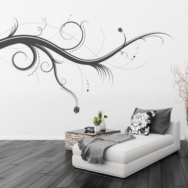 Motivos muy originales en forma de ramas para la pared de - Paredes pintadas con dibujos ...