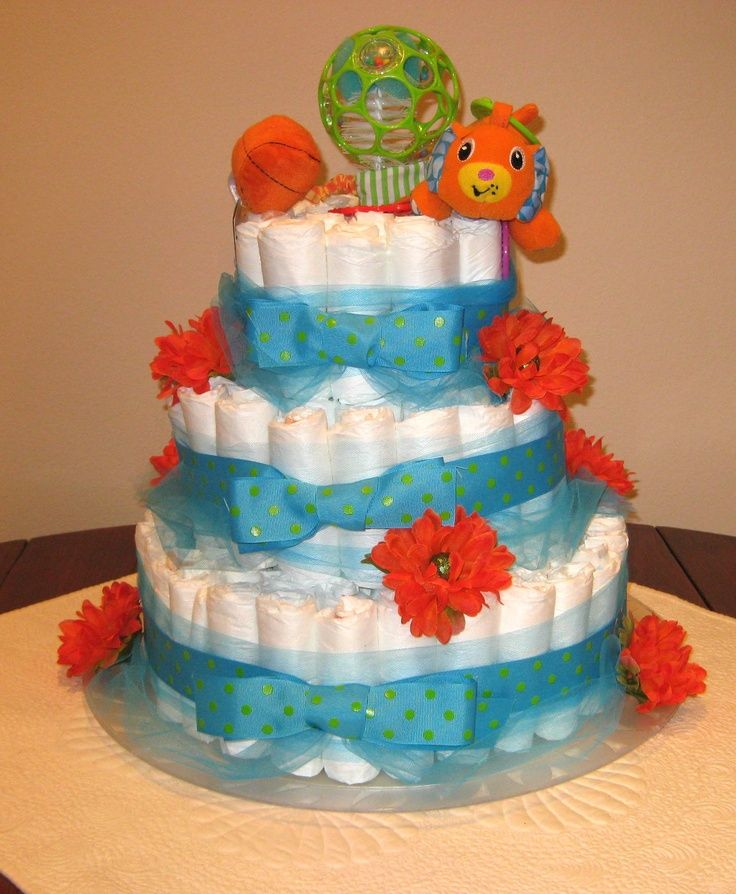 Pinterest Crafts For Baby Showers Diaper Cake For Baby Shower