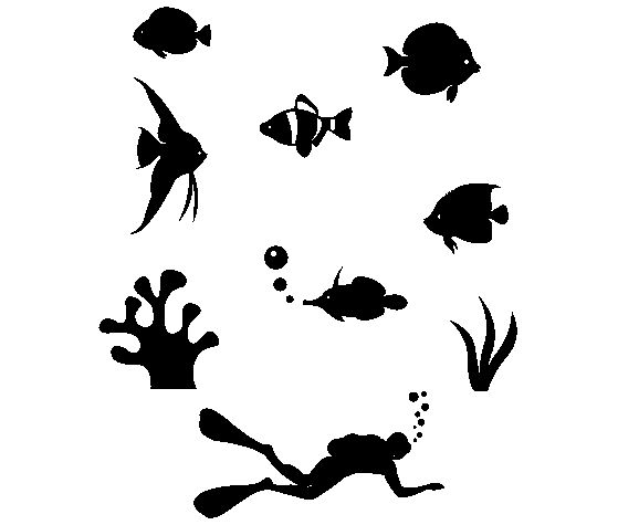 Download this Under the Sea Stencil Pattern and other free