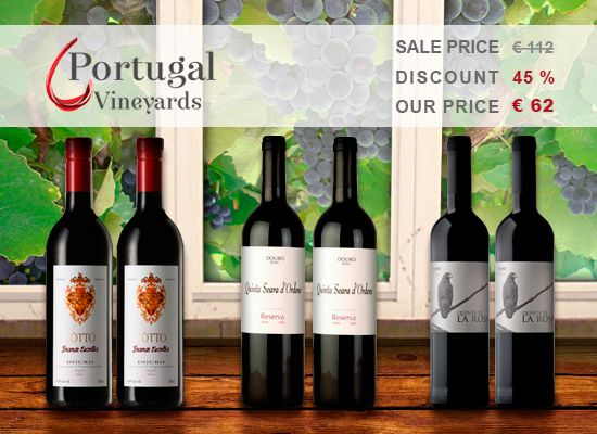 45% OFF in 6 bottles of Quinta de La Rosa, Quinta Seara D'Ordens and Quinta do Côtto