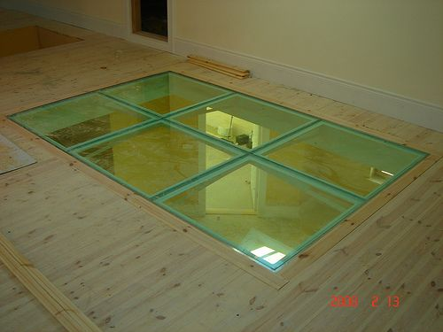 1000 images about glass floor calgary skylights on for Glass block floor