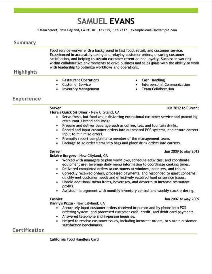 286 best BEST RESUME FORMAT images on Pinterest Resume templates