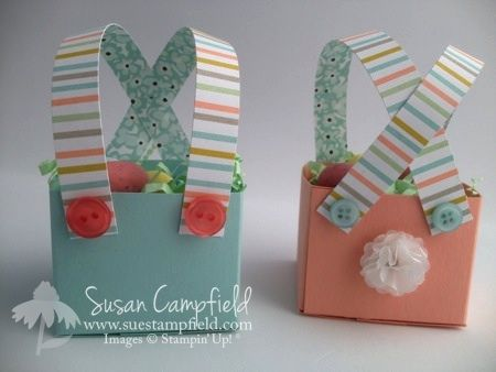 Bunny Britches Treat Box.  Could be used for a baby shower too.