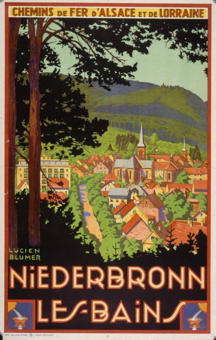 Niederbronn-les-Bains, France. Auteur: Lucien Blumer, Chemins de fer d'Alsace et de Lorraine.