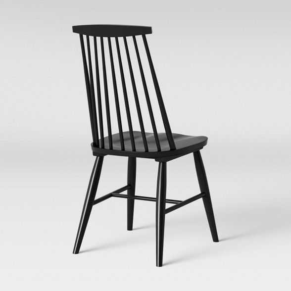 Harwich High Back Windsor Dining Chair Black Threshold Windsor