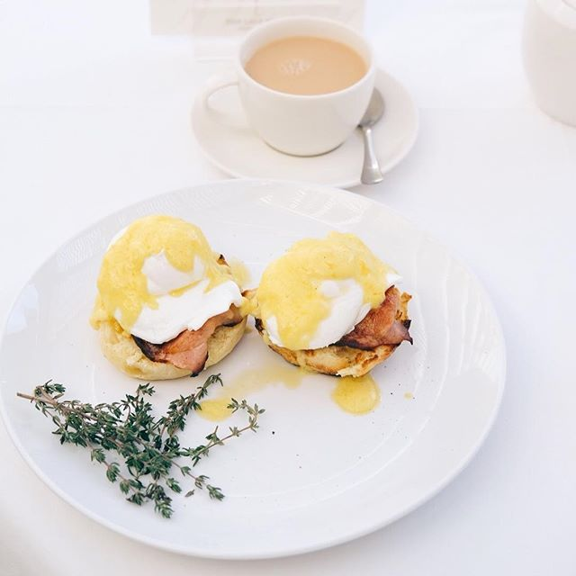 One of our favourite breakfasts is a delicious Eggs Benedict served on a home made English Muffin.    Image from @fitnessgirl_za & @instaeatscapetown