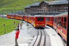 By Train to Jungfraujoch Top of Europe Station in the Swiss Alps