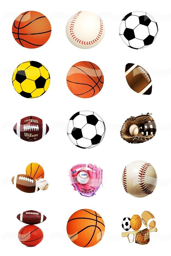balls sports bottle cap sport clip clipart printable collage printables caps crafts digital pendants charms jewelry magnets football party necklaces