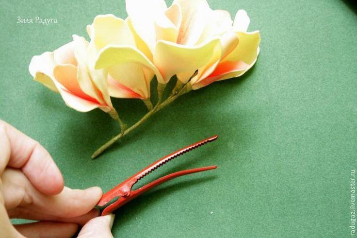Делаем цветок канна из фоамирана - Ярмарка Мастеров - ручная работа, handmade