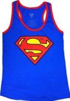 Superman Shield Logo Juniors Racer Tank