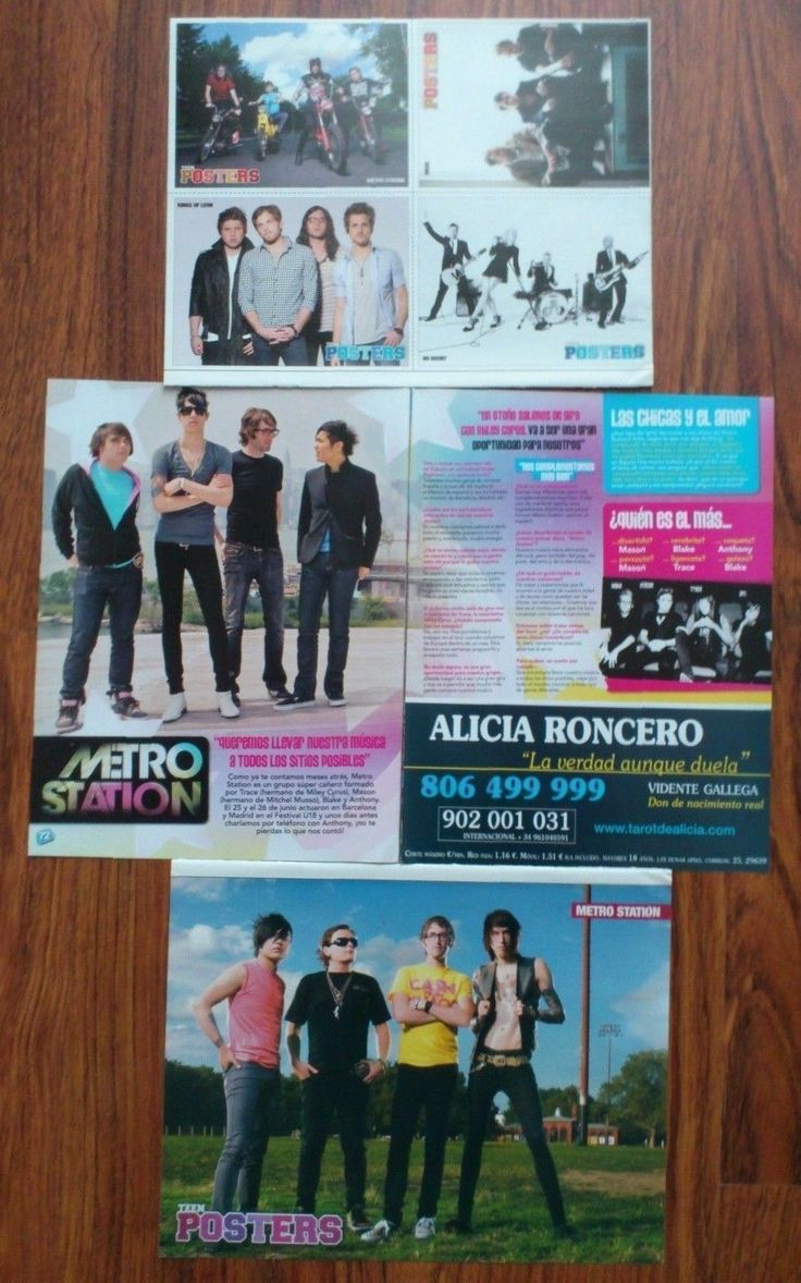 METRO STATION - Mason Musso, Trace Cyrus Poster Clippings Magazine | eBay