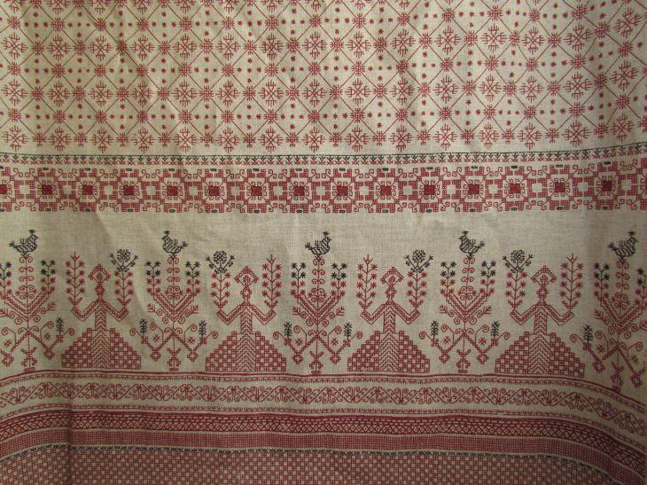 """Ткань """"Макошь. Печатный рисунок"""" со славянскими узорами"""
