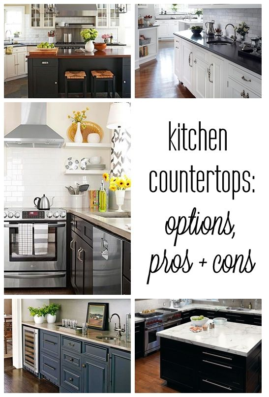 61 best kitchen images on pinterest kitchen ideas for Types of countertops for kitchen
