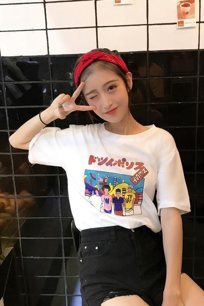 """""""ドツノポリスBEST by Dotsuitarunen"""" T-Shirt – OhMyKawaiiShop.com"""