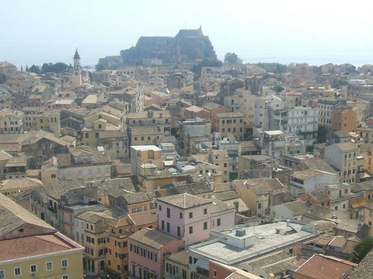 Corfu town is only a short bus ride from the village