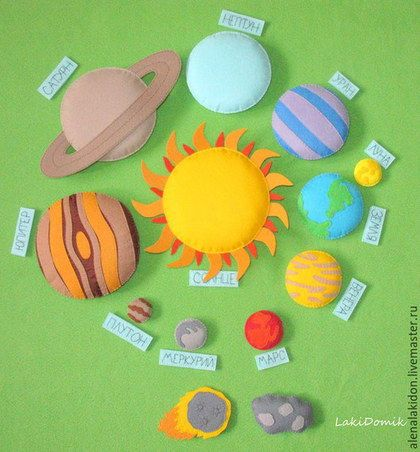 Развивающие игрушки ручной работы. Заказать Развивающая игра Космос. LakiDomik. Ярмарка Мастеров. Солнечная система, детям