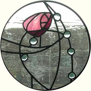 Charles Rennie MacKintosh stained glass window